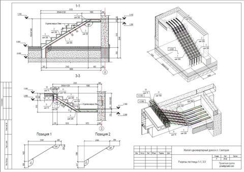 Проектирование железобетонных лестниц