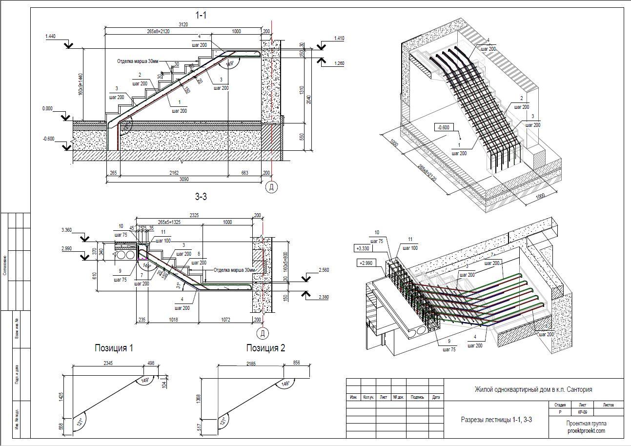 Расчет железобетонной монолитной лестницы колодцы кабельные связи ккс