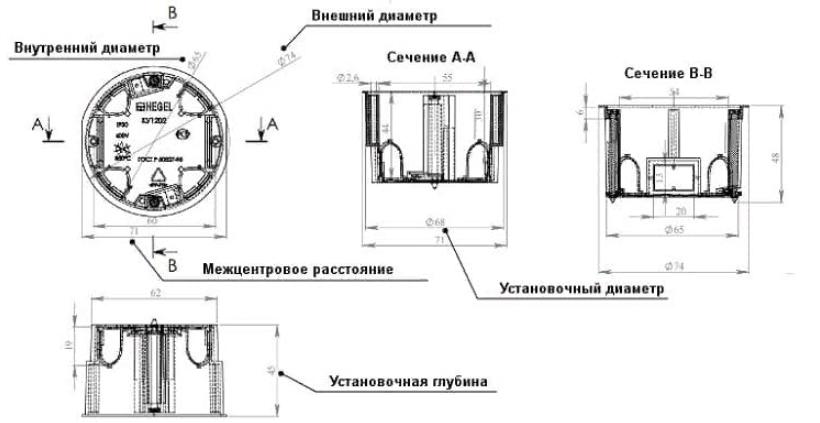 Бетон размеры бетон испытания