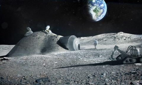 Так может выглядеть первая лунная база
