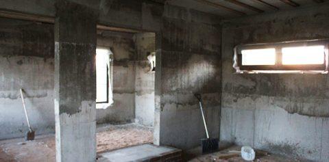 Цокольный этаж из керамзитобетонных панелей