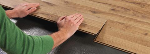 Установка ламината на бетонный пол: система замкового соединения