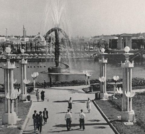 Архивное фото первого фонтана