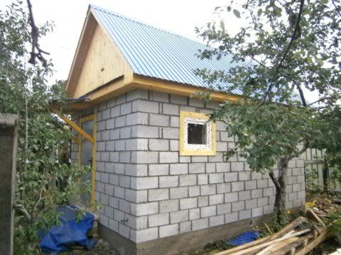 Баня из полистиролбетонных блоков