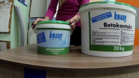 Грунтовка бетоноконтакт Knauf – разная по характеристикам, применению, фасовке