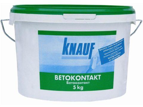 Грунтовка бетоноконтакт кнауф 5 кг адгезионная для бетона перед оштукатуриванием для внутренних работ