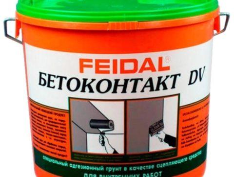Грунтовка Файдаль бетоноконтакт 20 кг – менее качественный аналог «Старателей»