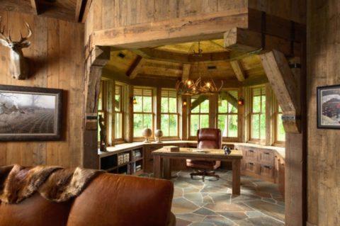 Идеальная фальшбетонная плитка под «деревянный» интерьер