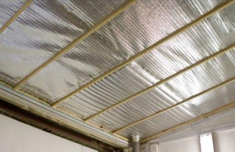 Как утеплить бетонный потолок внутри – самый простой способ применить распространенные материалы