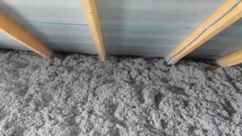Опилки с бетоном