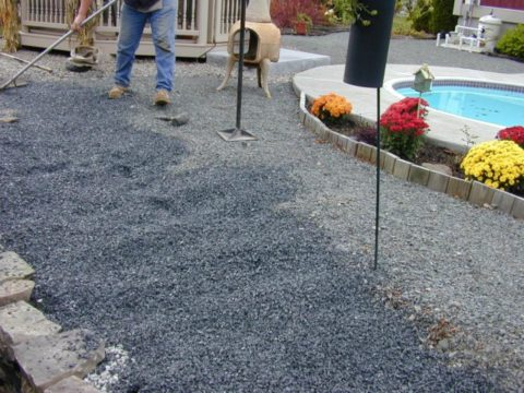 Подготовка тротуарной дорожки под бетонирование