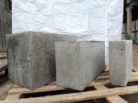 Полистирольные блоки разных размеров