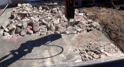 Разрушение бетонного основания