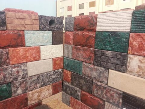 Штучные изделия для облицовки стен