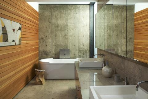 Смесь стилей в интерьере ванной комнаты