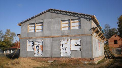 Строительство из полистиролбетонных блоков – дом из панелей