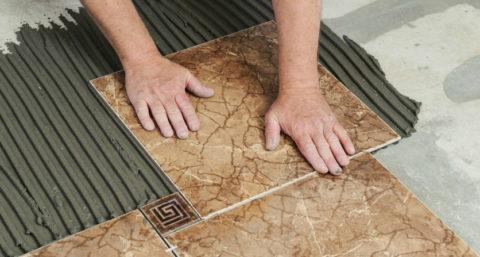 Укладка плитки со смещением швов