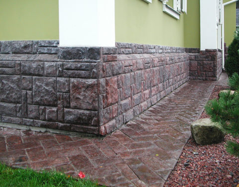 Бетонная плитка для облицовки с имитацией каменной кладки