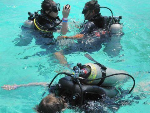 Экскурсоводы в подводном музее – опытные дайверы