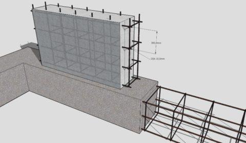 Схематичное изображение усиления цоколя здания