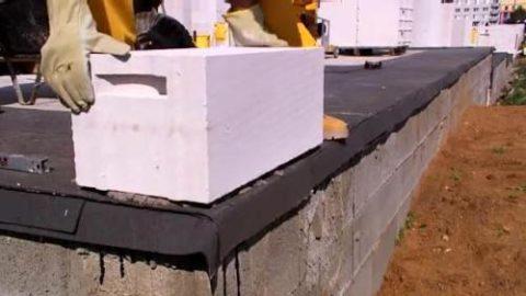 Укладка угловых блоков