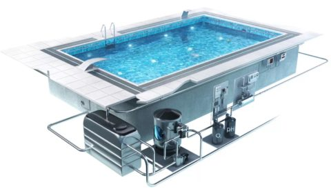 Как построить бассейн из бетона: при проектировании учитывается расположение и подводка гидротехнических элементов