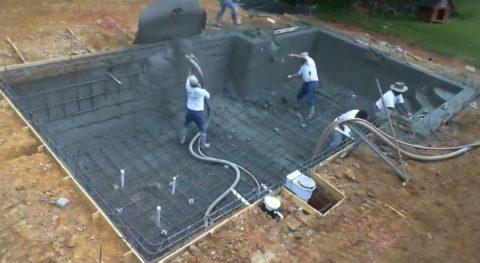 Стены из торкретированного бетона