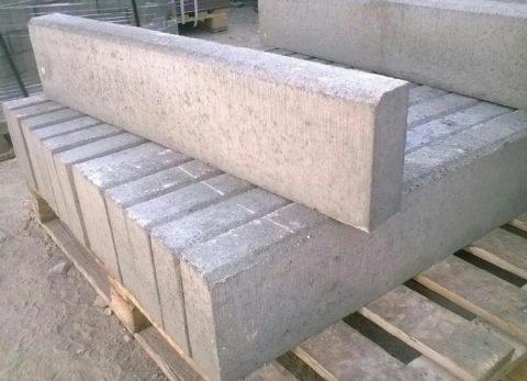 Бордюры, произведенные из бетона