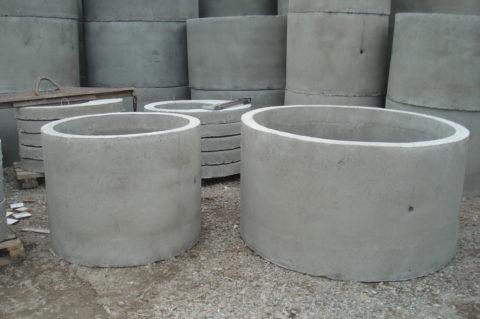 Бетонные кольца для скважины с отверстиями для вывода труб