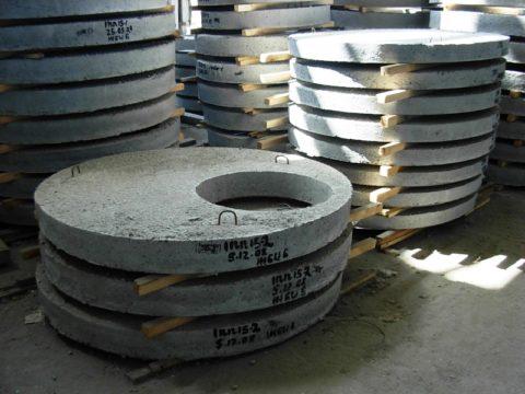 Круглые плиты перекрытий для колодцев