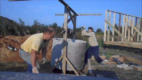 Строительство бетонного кессона без специальной техники требует больших физических усилий