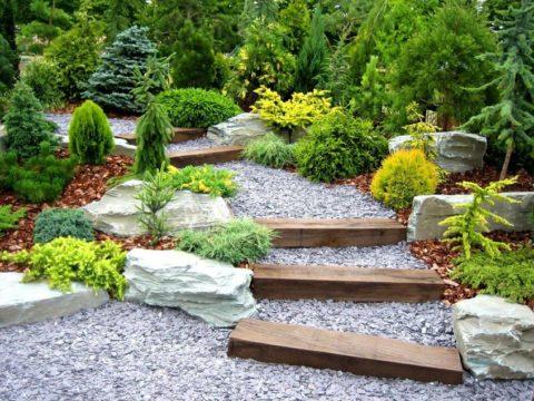 Фото оригинальной садовой дорожки