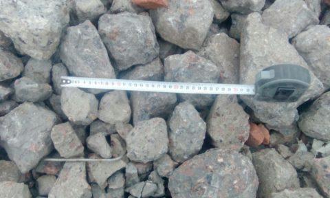 К размеру камней и другим характеристикам бетонного боя предъявляются строгие требования