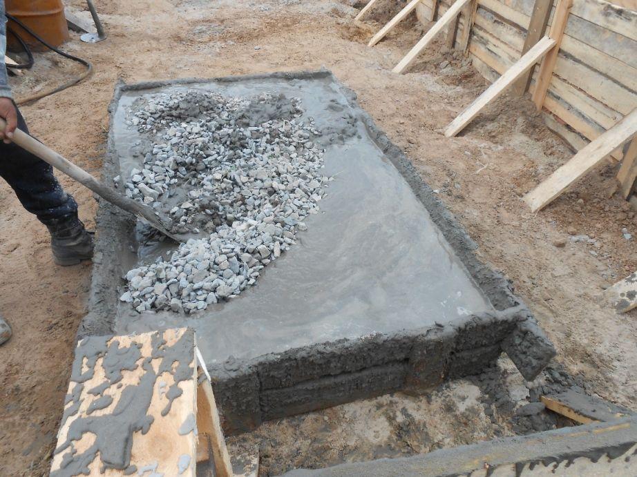 использование обломков бетона