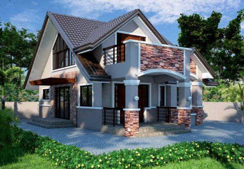 Один из современных проектов, рассчитанных на строительство из ячеистого бетона