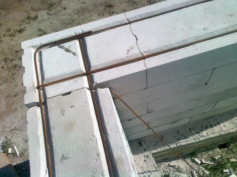 Усиление стен армированием