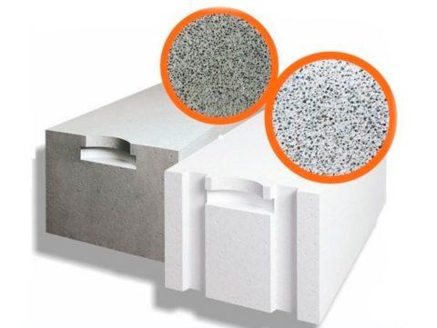 Газоблоки белые, газозолобетонные блоки серые