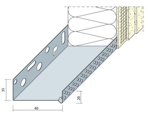 Принцип установки нижнего ряда утеплителя на цокольный профиль