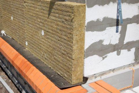 Утепление стен снаружи из газобетона