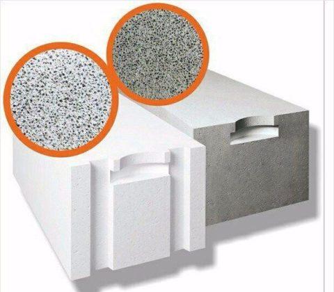 Блоки на цементном и известковом вяжущем отличаются по цвету